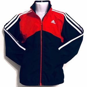 adidas Red Black Colorblock Track Jacket A060172